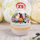 "The box-egg ""Flowers"", 9.3 x 6 cm"