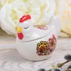 """Box-hen """"Ornament"""", 8 x 6.8 cm"""