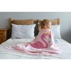 "Вязаный плед ""Крошка Я"" Фламинго, размер 90х90 см, цвет розовый - фото 105559944"