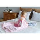 "Вязаный плед ""Крошка Я"" Фламинго, размер 90х90 см, цвет розовый - фото 105559945"