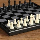 """Настольная игра 3 в 1 """"Классика"""": шахматы, шашки, нарды, магнитная доска 20х20 см - фото 105616874"""