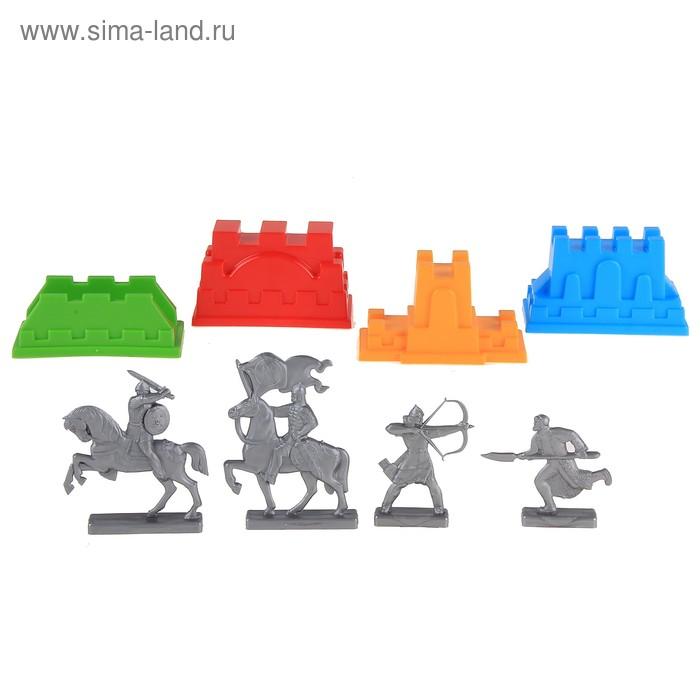 """Набор формочек """"Крепость"""" с фигурками воинов"""