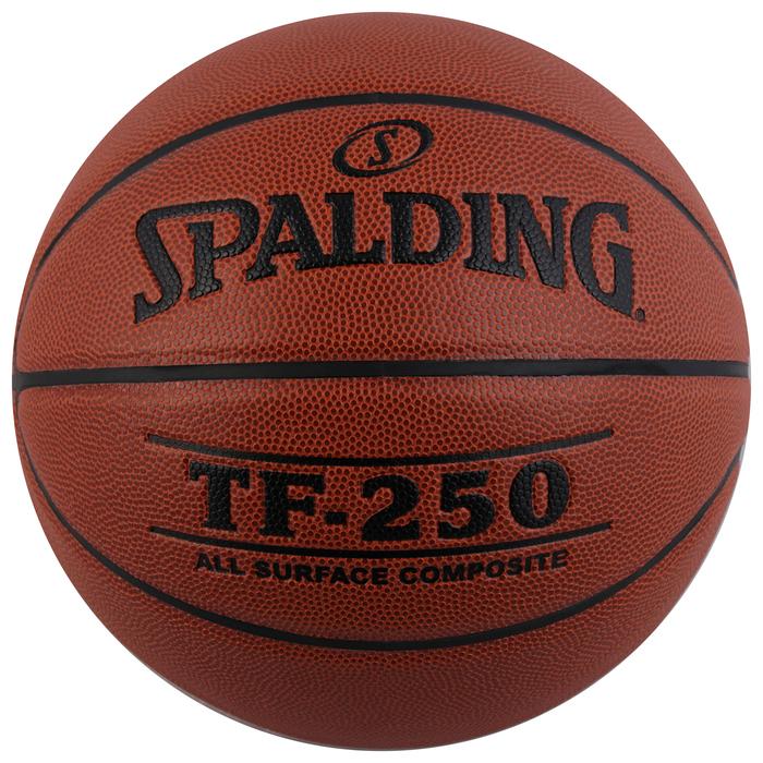 Мяч баскетбольный SPALDING TF-250 All Surface, размер 5, 8 панелей, PU, 74-537z, клееный
