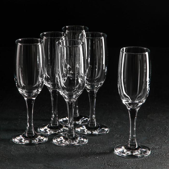 Набор фужеров для шампанского 190 мл Bistro, 6 шт