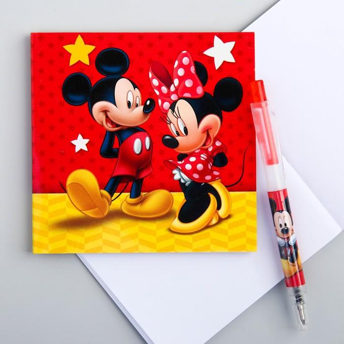 Блокнот с ручкой, Микки Маус и его друзья