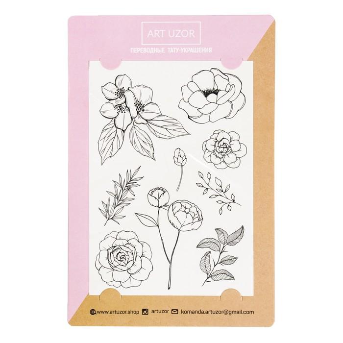 Наклейки‒тату Flowers, 14 × 21 см