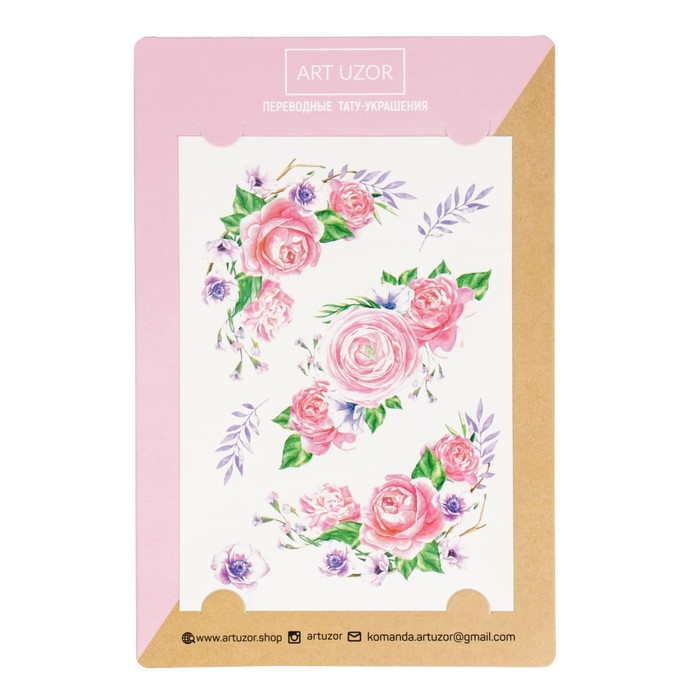 Наклейки‒тату «Розы», 14 × 21 см