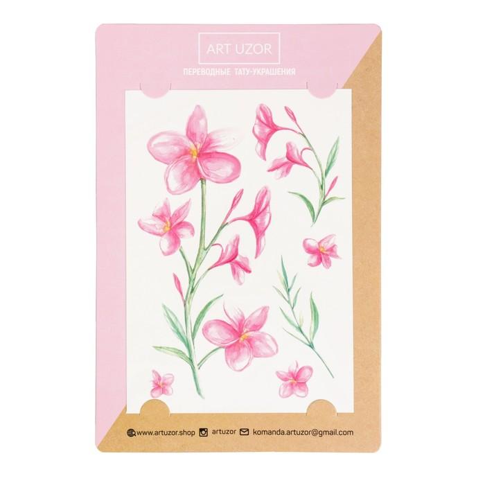 Наклейки‒тату «Цветы», 14 × 21 см