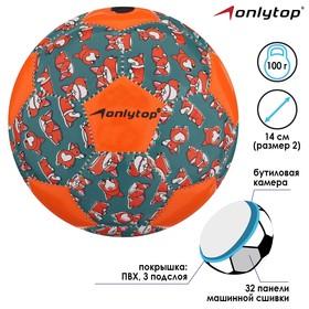 Мяч футбольный ONLITOP «Лисёнок», размер 2, 32 панели, PVC, бутиловая камера, машинная сшивка, 100 г