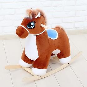 Качалка «Лошадка», музыкальная, цвет коричневый