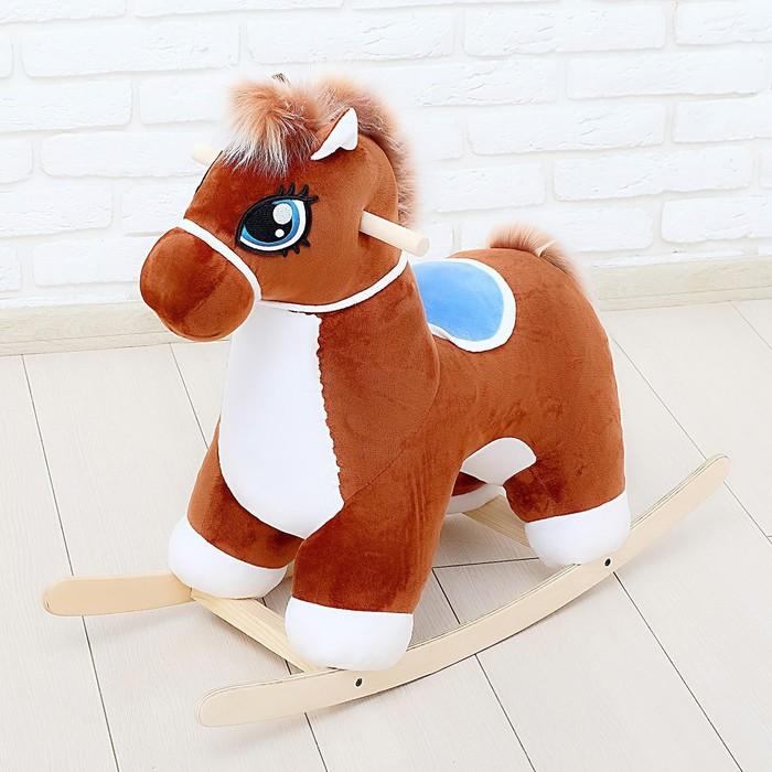 """Качалка """"Лошадка"""" музыкальная, цвет коричневый"""