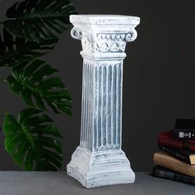 """Колонна """"Античная малая"""" серый камень 18х18х56см"""
