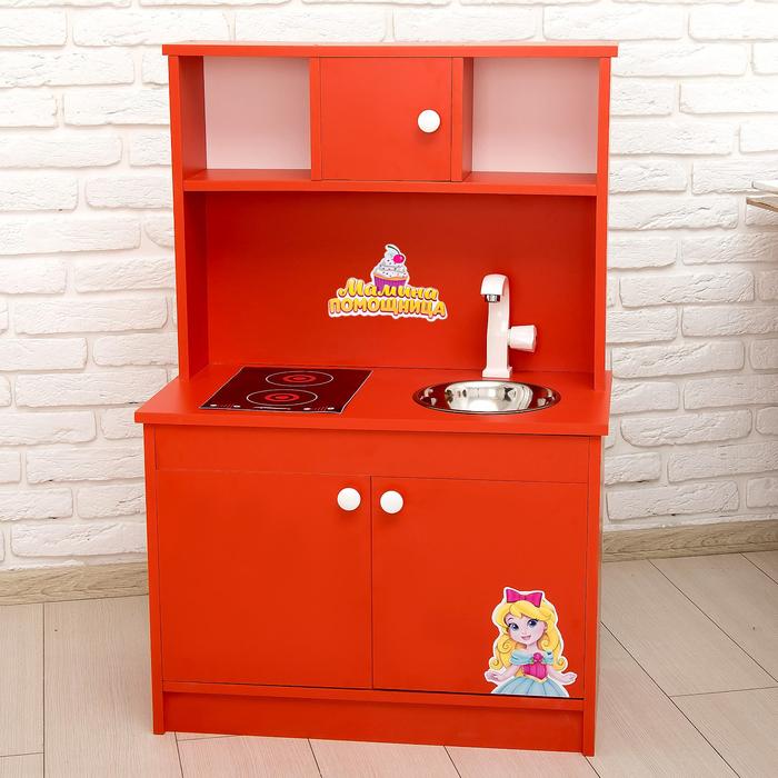 """Игровая мебель """"Кухонный гарнитур Мамина помощница"""" цвет красный"""