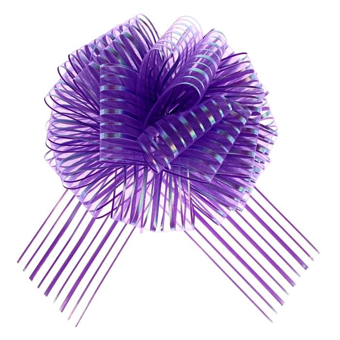 """Бант-шар №10 """"Полоски"""", цвет фиолетовый"""