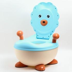 Горшок детский «Лев», цвет голубой