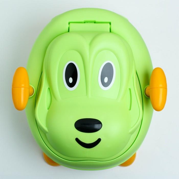 Горшок детский «Собачка», цвет зелёный
