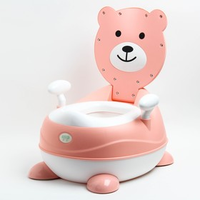 Горшок детский «Мишка», цвет розовый