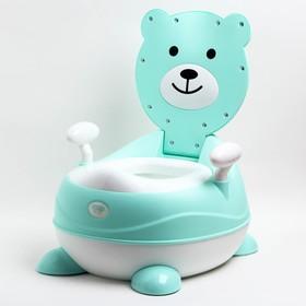 Горшок детский «Мишка», цвет бирюзовый