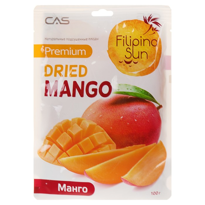 Плоды МАНГО сушеные 100 г/25/100, TM Filipino Sun - фото 16180