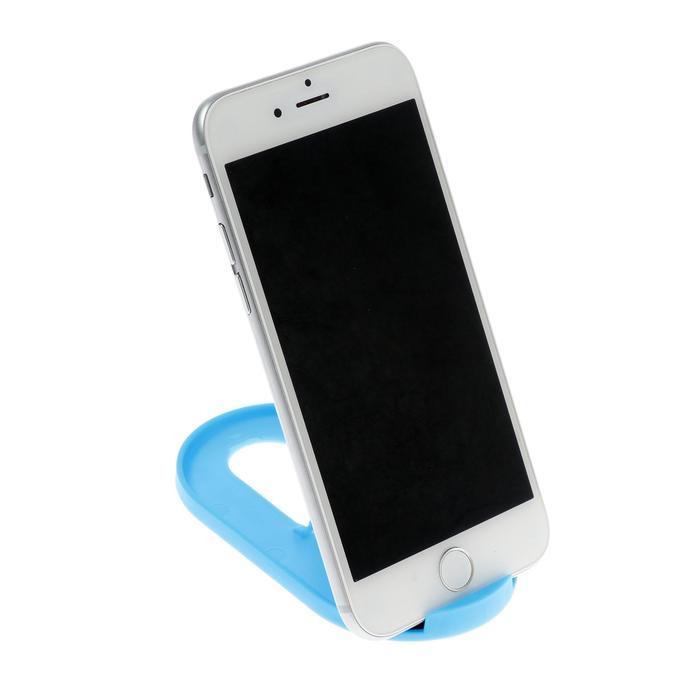 Подставка для телефона LuazON, складная, регулируемая высота, резиновая вставка, синяя