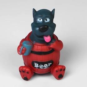 """Игрушка пищащая """"Собака BEER"""" для собак 14 см"""