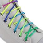Шнурки для обуви, пара, круглые, d = 4 мм, 120 см, цвет «радужный»