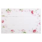 """Фотофон винил """"Розовые розы на белых досках"""" 80х125 см"""