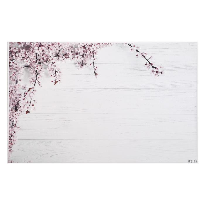 """Фотофон винил """"Яблоневый цвет и белые доски"""" 80х125 см"""