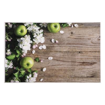 """Фотофон винил """"Яблоневый цвет и яблоки"""" 80х125 см"""