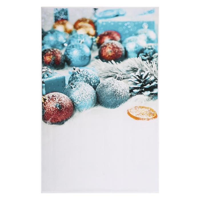 "Фотофон винил ""Новогодние шарики на снегу"" 125х80 см"