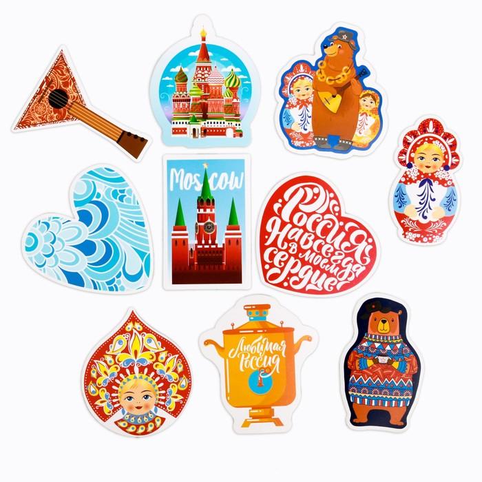 Наклейки на чемодан «Русские мотивы», 8 × 8 см