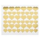 "Sticker on polymer balls ""Hearts"", color: Golden"
