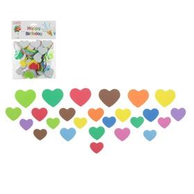 Наклейка на полимерные шары «Сердца», набор 100 шт., цвета МИКС