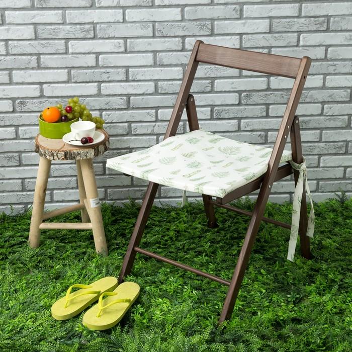 Подушка на стул уличная «Этель» Листья 45×45 см, репс с пропиткой ВМГО, 100% хлопок