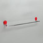 Держатель для полотенец одинарный Accoona A11806N-1, цвет красный