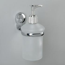 Дозатор для жидкого мыла настенный Accoona A11813, 200 мл, стекло, цвет хром
