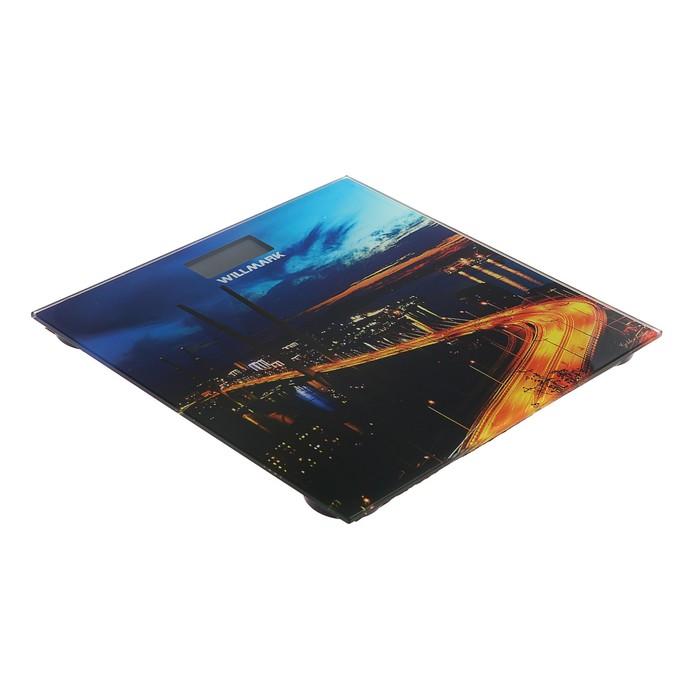 """Весы напольные WILLMARK WBS-1811D, электронные, до 180 кг, картинка """"Золотой мост"""""""