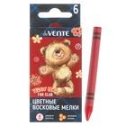 Мелки восковые 6 цветов, deVENTE, круглые, Teddy Bear, в картонной коробке