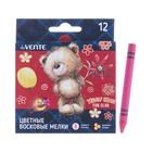 Мелки восковые, 12 цветов, deVENTE, круглые, Teddy Bear, в картонной коробке