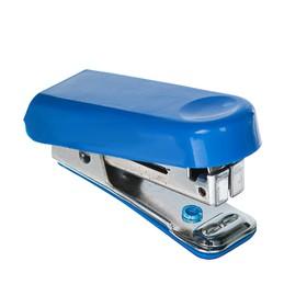 Степлер № 10, до 10 листов, Attomex МИНИ, встроенный антистеплер, синий