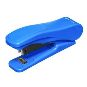 Степлер № 10, до 18 листов, Attomex, встроенный антистеплер, синий