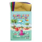 Бумага цветная металлизированная, набор A4, deVENTE, 5 листов х 5 цветов, 80 г/м²