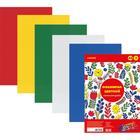 Фоамиран цветной самоклеящийся, набор А4, 1 мм, deVENTE, 5 листов х 5 цветов
