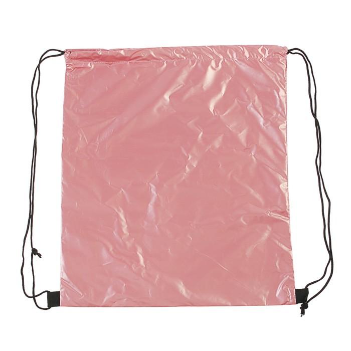 Мешок для обуви, 400 х 350, deVENTE Metallic, розовый