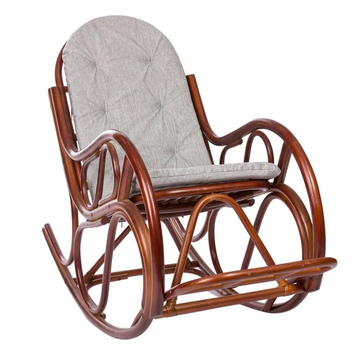 Кресло-качалка CLASSIC МИ с подушкой, цвет Коньяк (подушка)