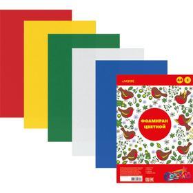 Фоамиран цветной, набор А4, 1 мм, deVENTE, 5 листов х 5 цветов Ош