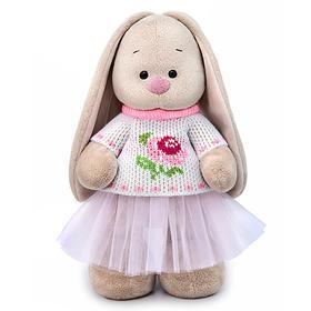 Мягкая игрушка «Зайка Ми» в жаккардовом свитере и юбке 25 см