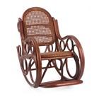 Кресло-качалка NOVO МИ с подушкой, цвет Коньяк (сидушка)