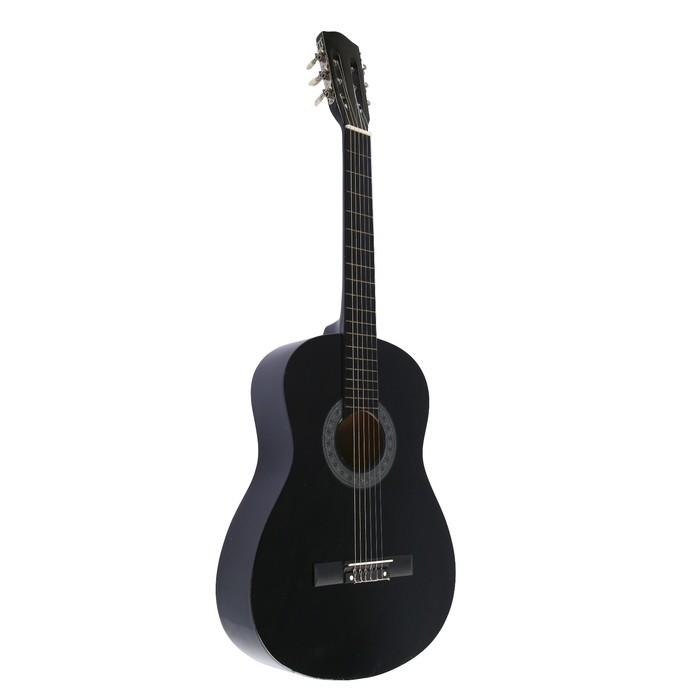 Гитара акустическая, 6-ти струнная черная