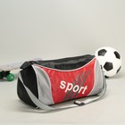 Bag sports Department with zipper, long strap, black/red